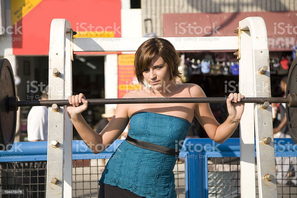 Muscle Beach Pose stock photo