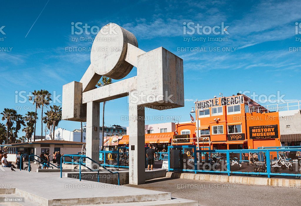 Muscle Beach Venice in Los Angeles stock photo