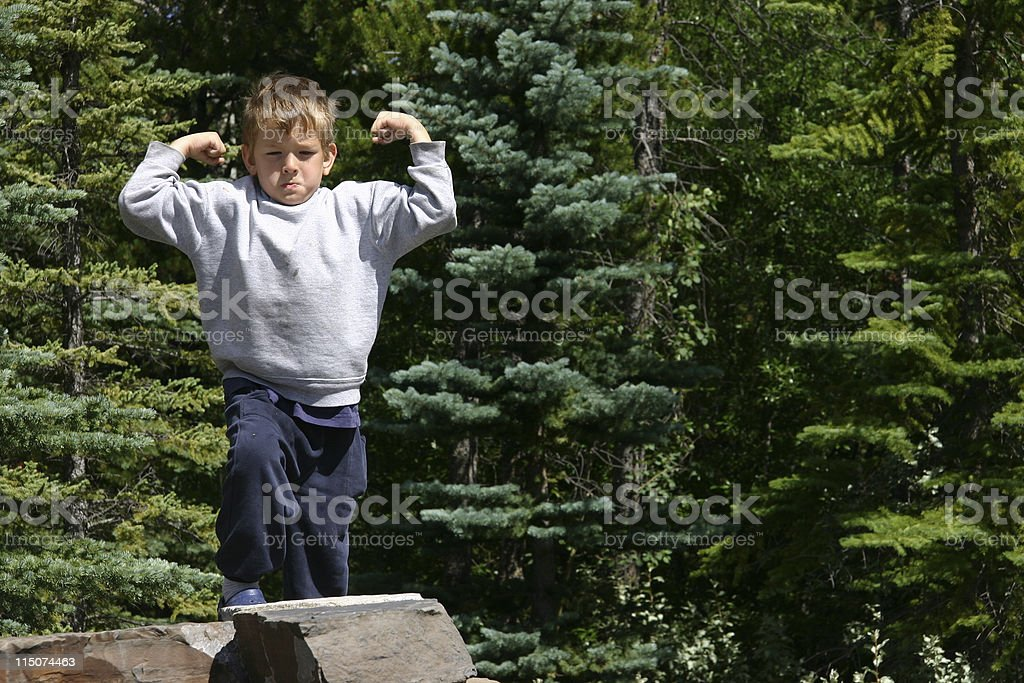 Muscle Boy stock photo