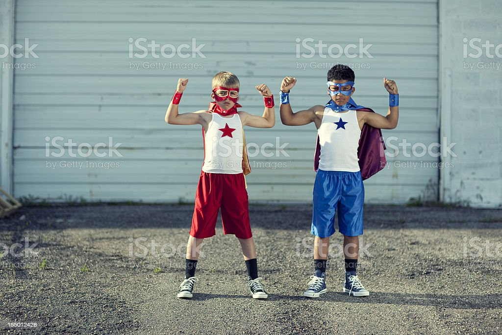 Muscle Brothers royalty-free stock photo