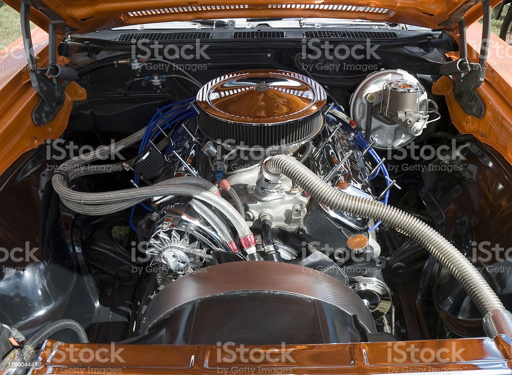 Muscle Car Engine royalty-free stock photo