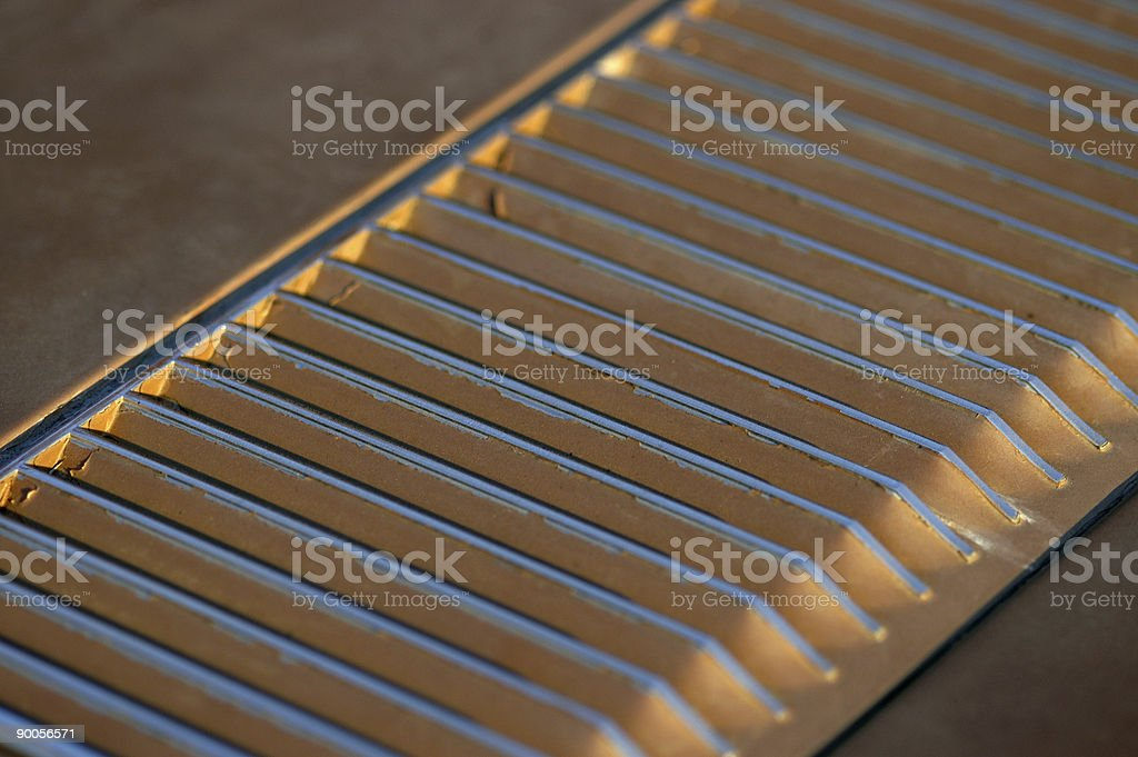 Muscle car intake grille louver detail royalty-free stock photo
