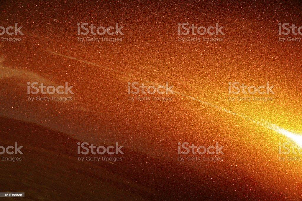 Muscle car orange paint background stock photo