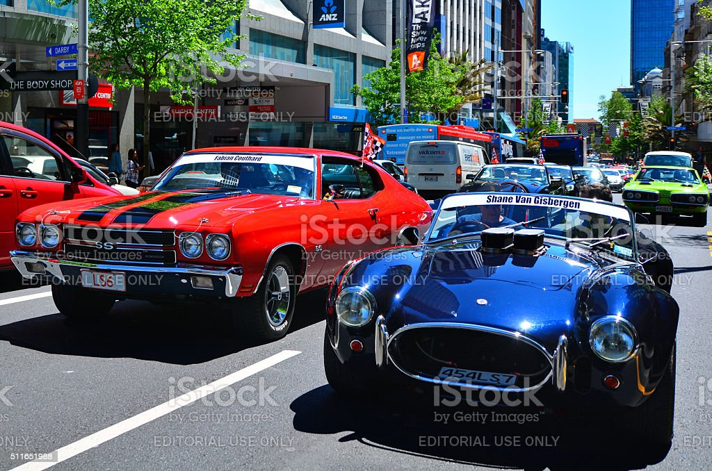 Us Muscle Cars Car Pared Stock Photo Istock