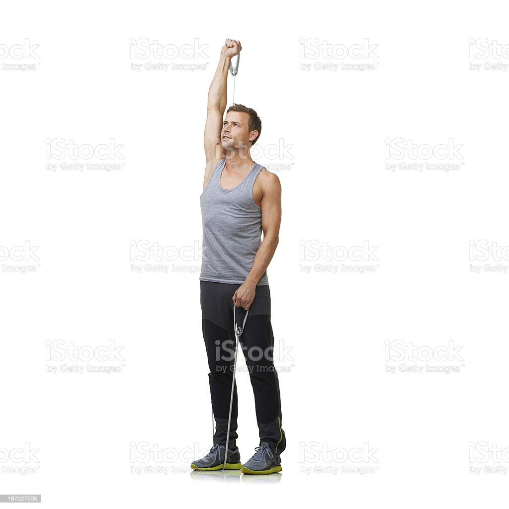 Muscle definition is his goal royalty-free stock photo