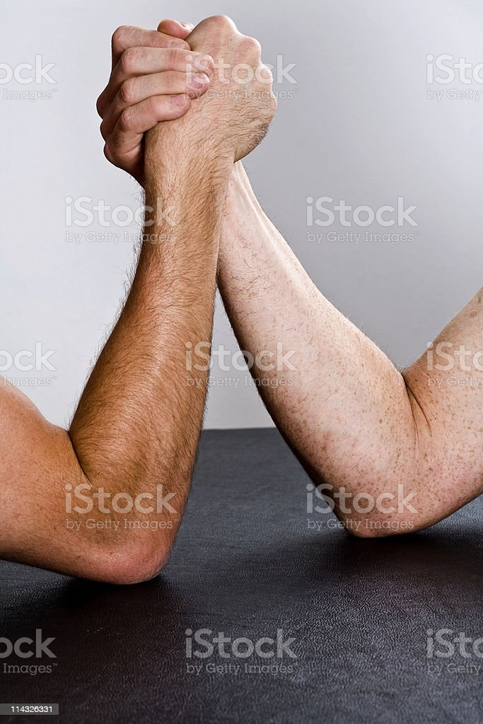 Muscle Duel stock photo