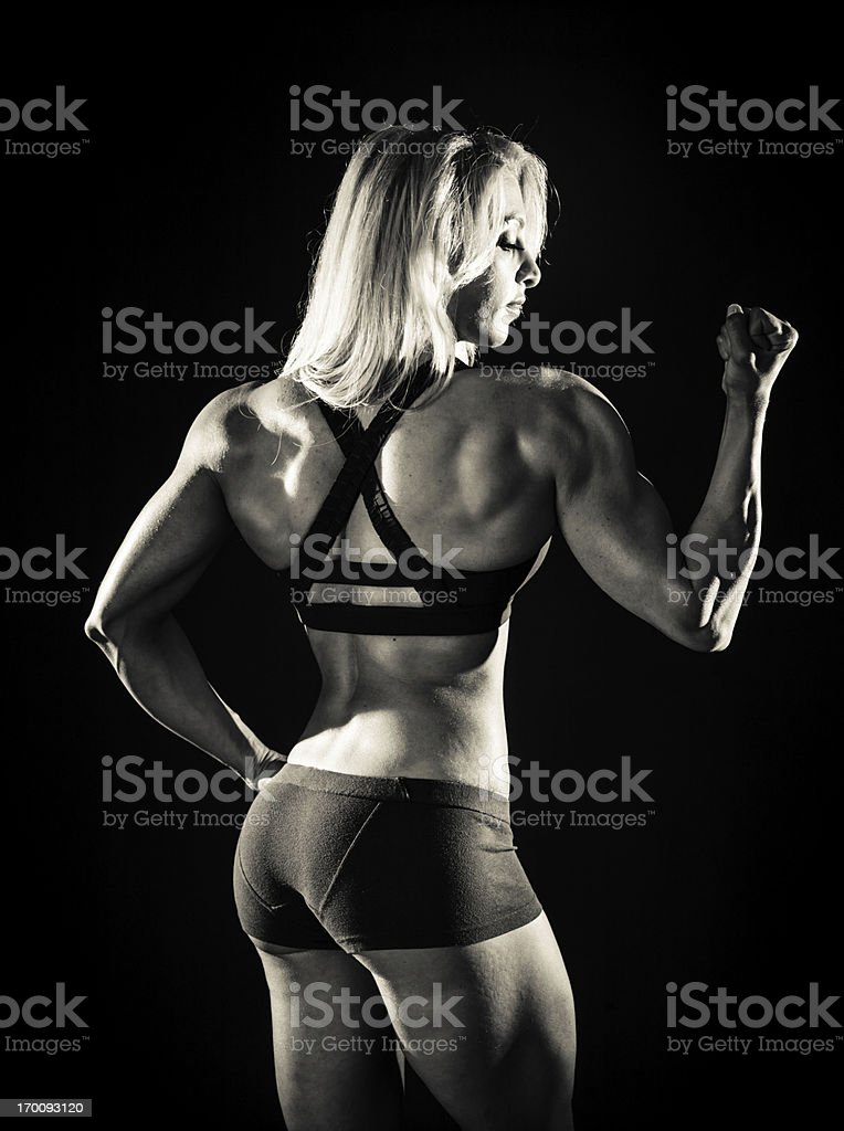 Muscle Girl royalty-free stock photo