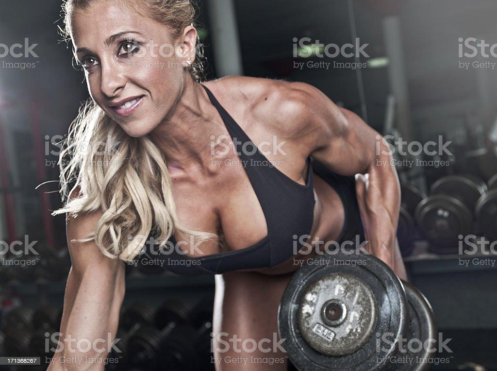 muscle fille photo libre de droits