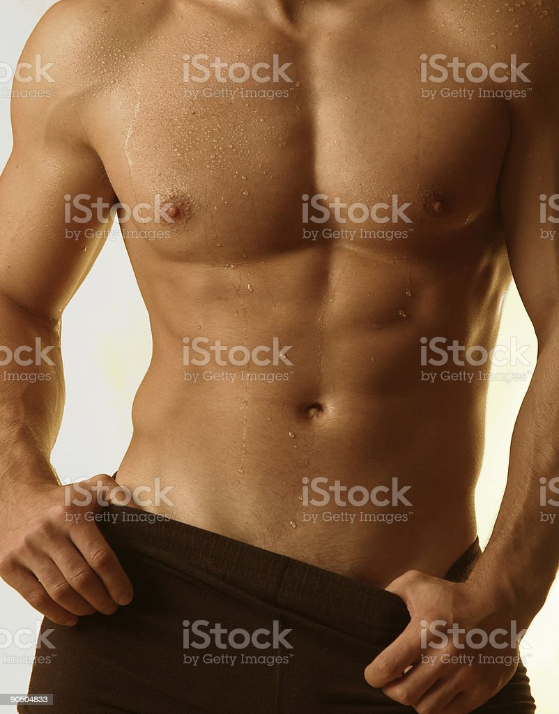muscle Male torso royalty-free stock photo