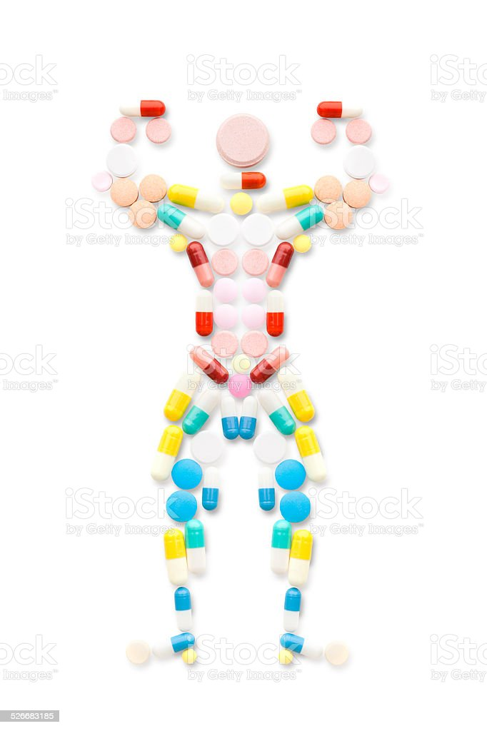 Muscle man. stock photo