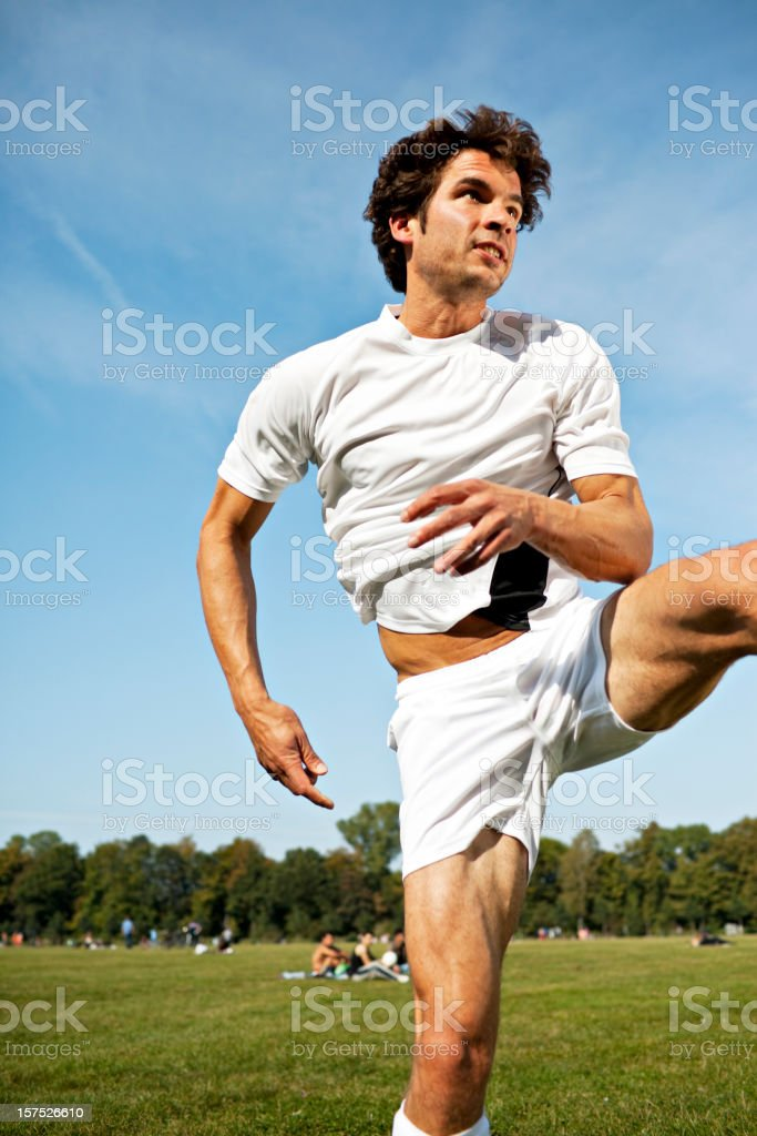 muscle man sport outdoor royalty-free stock photo