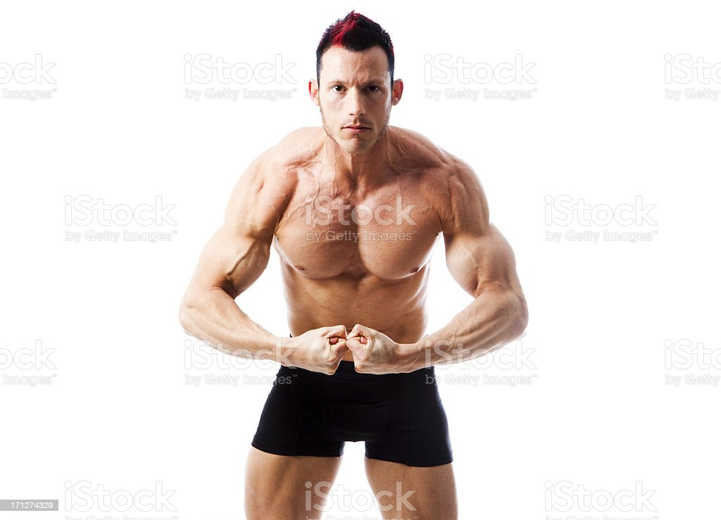 Muscle Pose royalty-free stock photo