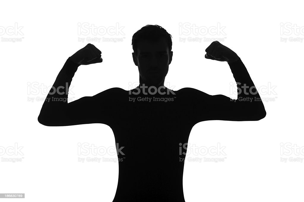 Muscle Silhouette royalty-free stock photo