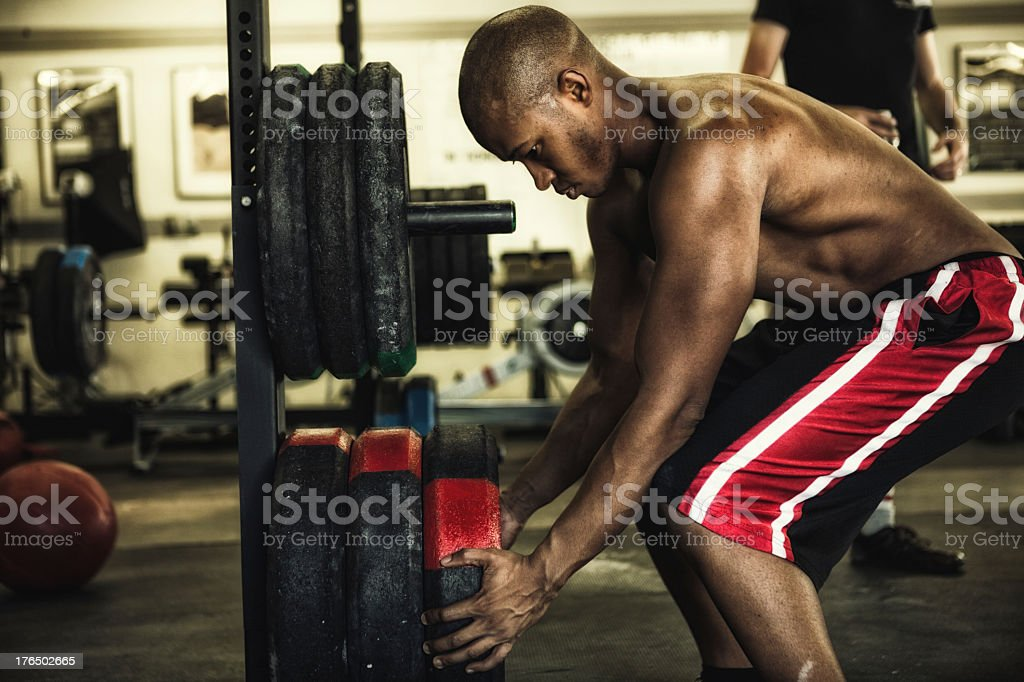 muscle training stock photo