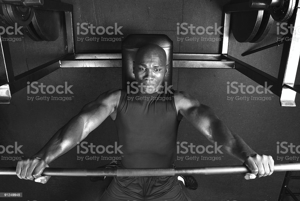 Musclebound royalty-free stock photo