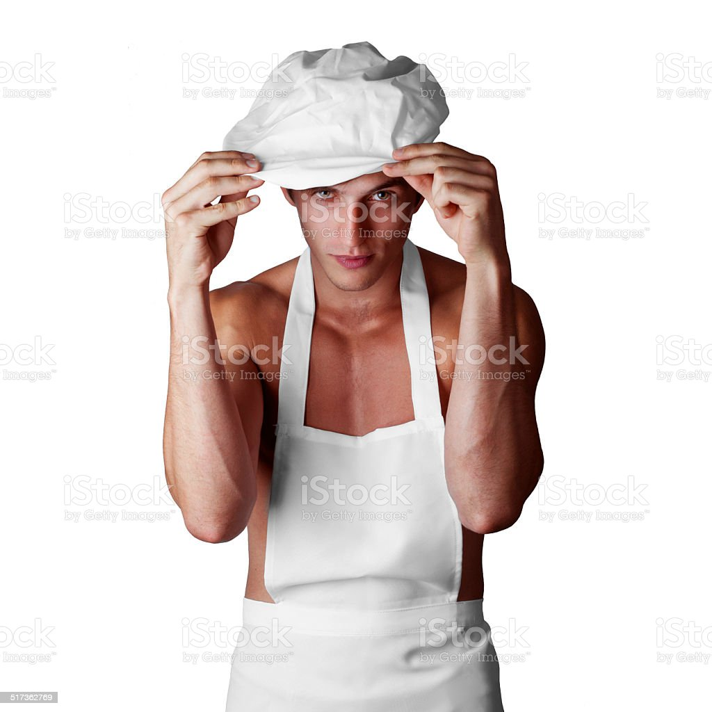 muscleman cook stock photo