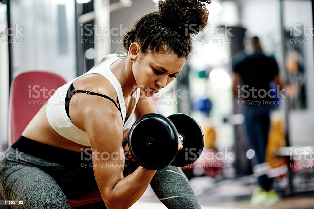 Muscles are build by effort not excuses stock photo