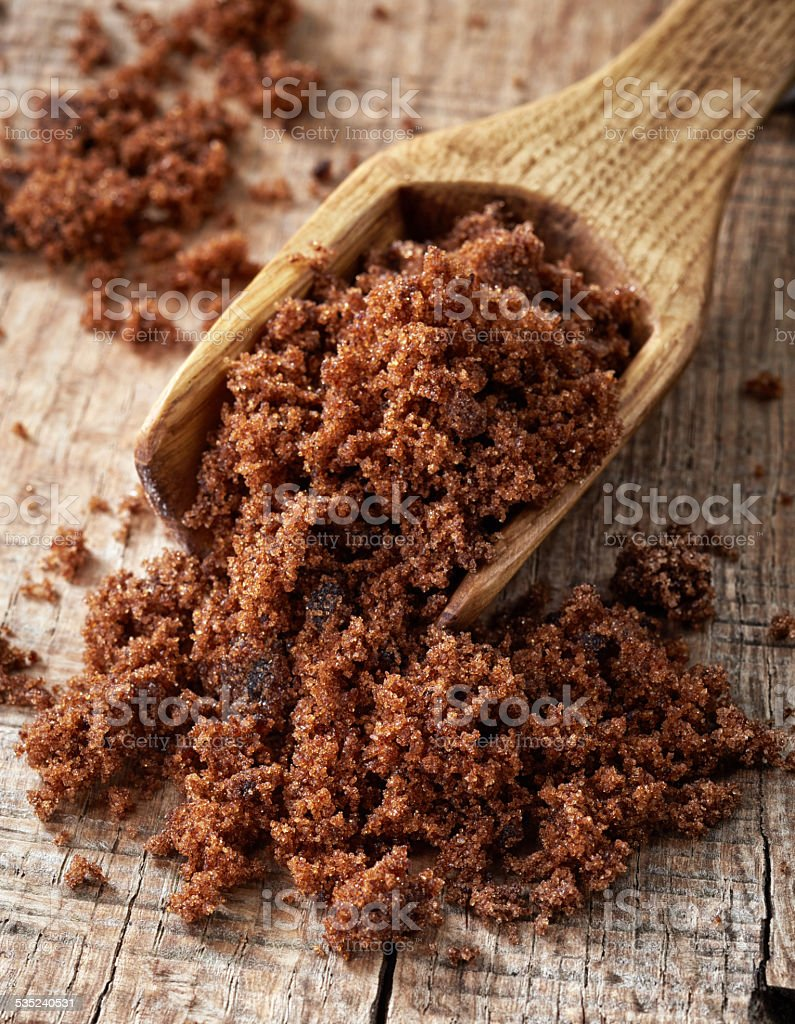 muscovado sugar stock photo