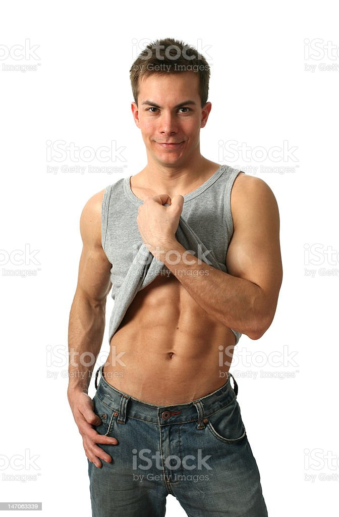 Muscular Abs royalty-free stock photo