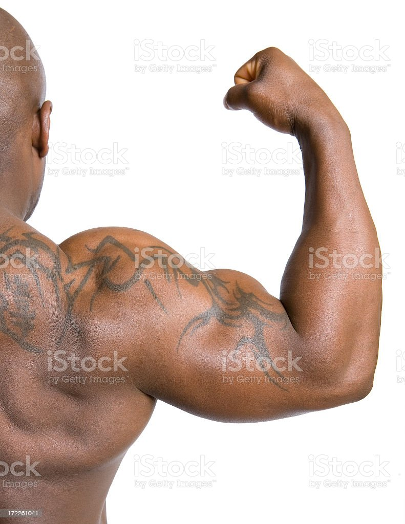 Muscular Afroamerican Male royalty-free stock photo