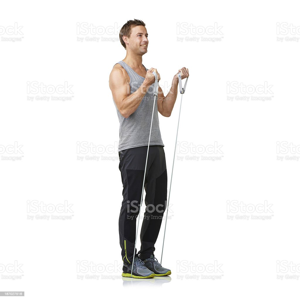 Muscular and defined royalty-free stock photo