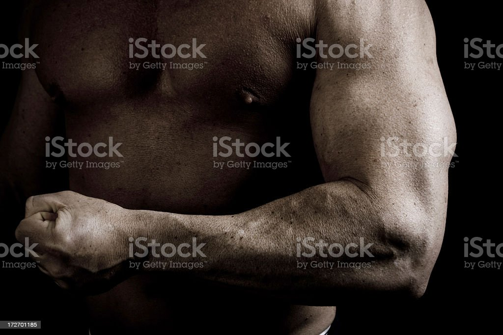 Muscular Arm of Man royalty-free stock photo