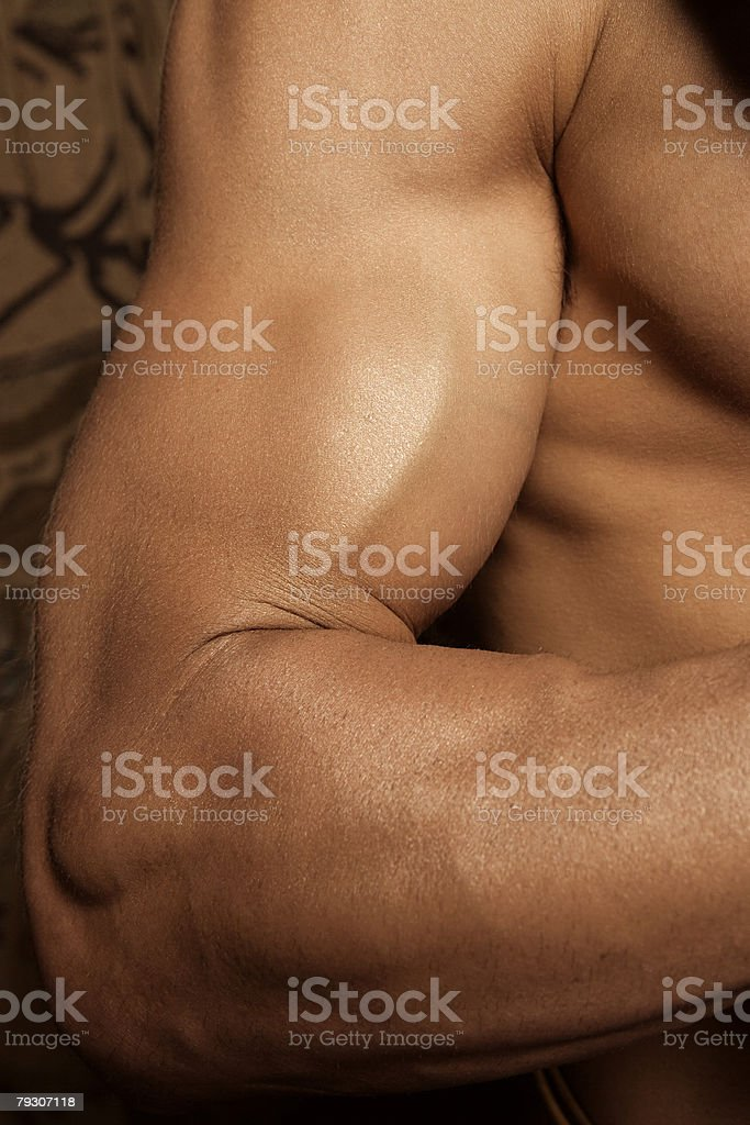 Muscular arm stock photo