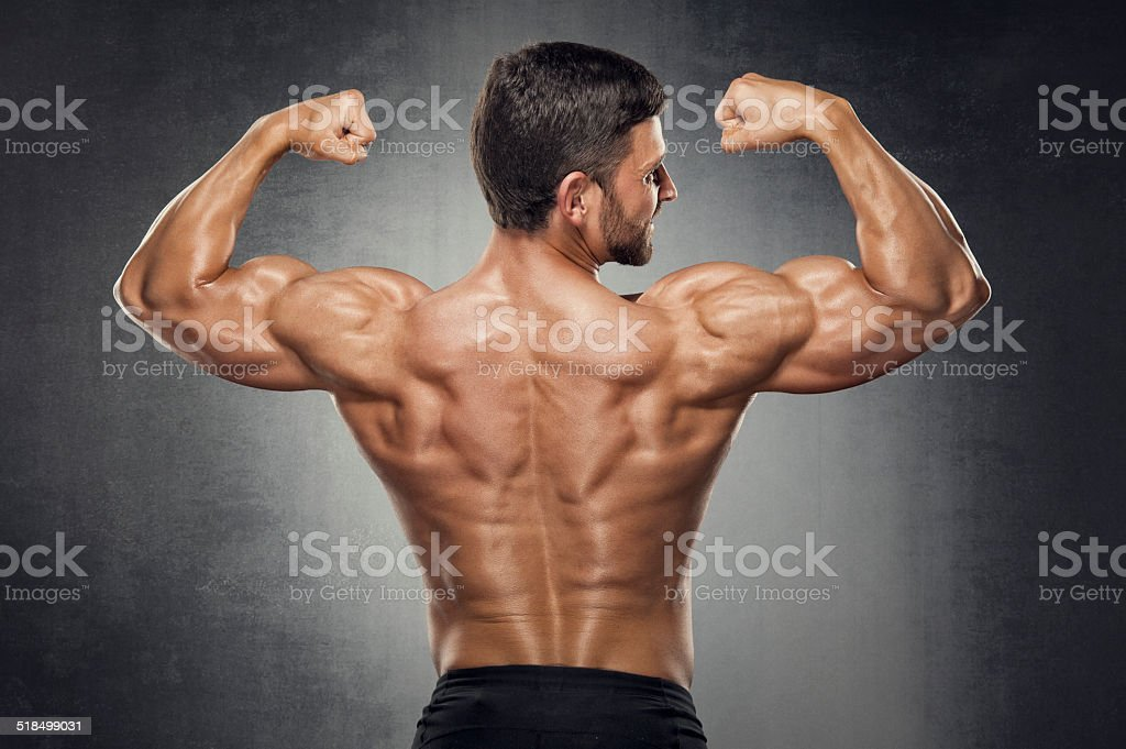Muscular Back stock photo