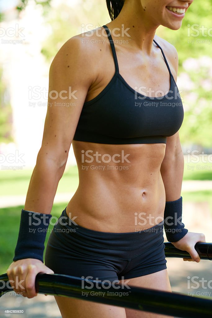 Muscular body stock photo