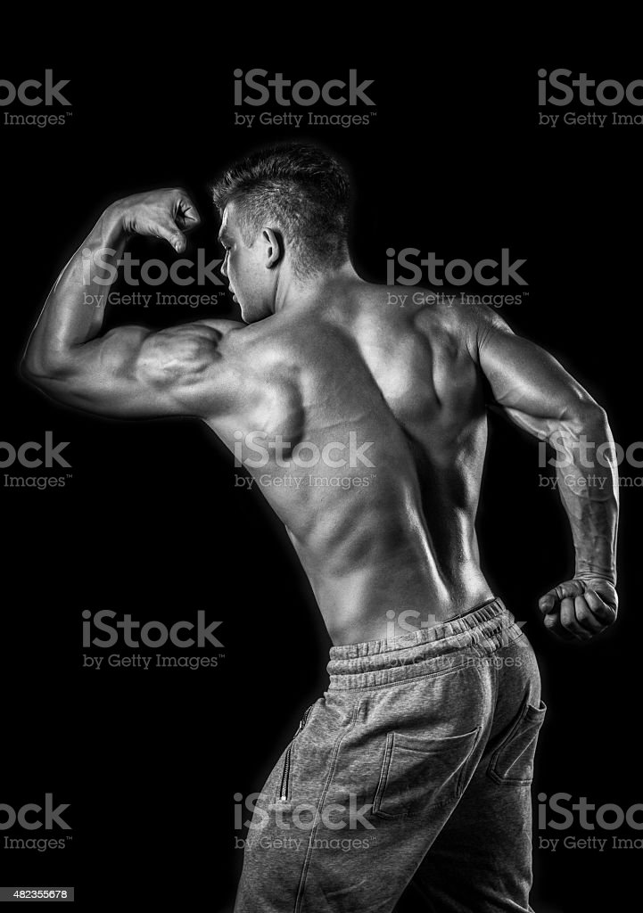 muscular bodybuilder stock photo