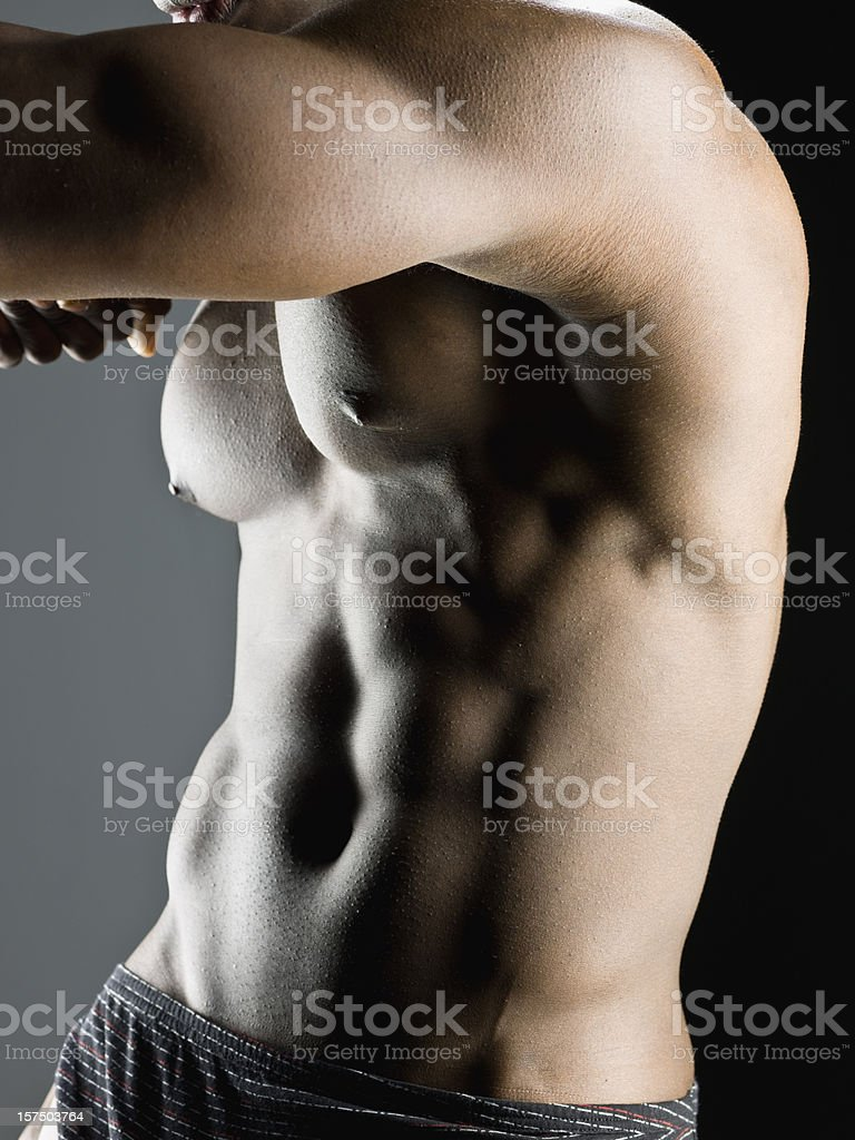 Muscular build royalty-free stock photo