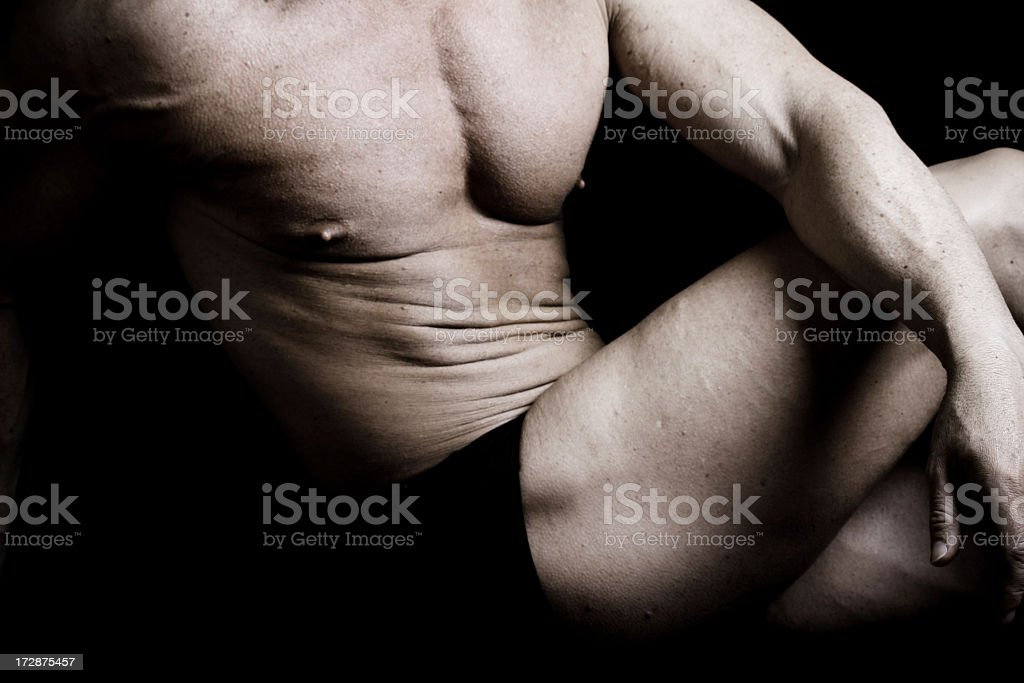 Muscular Chest of Body Builder royalty-free stock photo