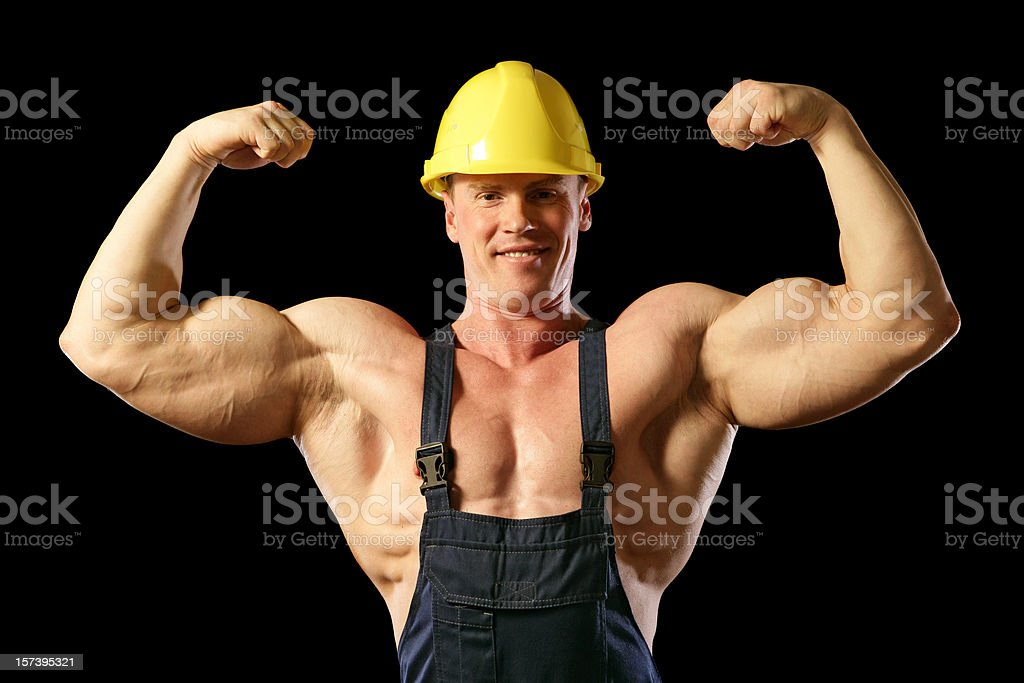 Muscular Construction Worker (XXL) royalty-free stock photo