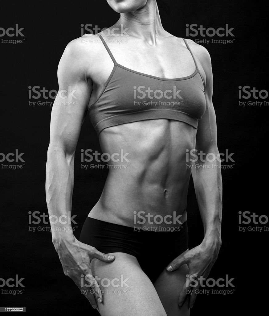muscular female body royalty-free stock photo