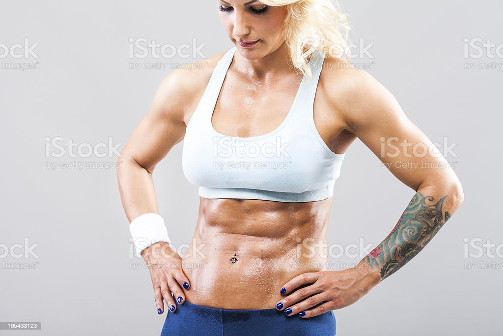 Muscular female royalty-free stock photo