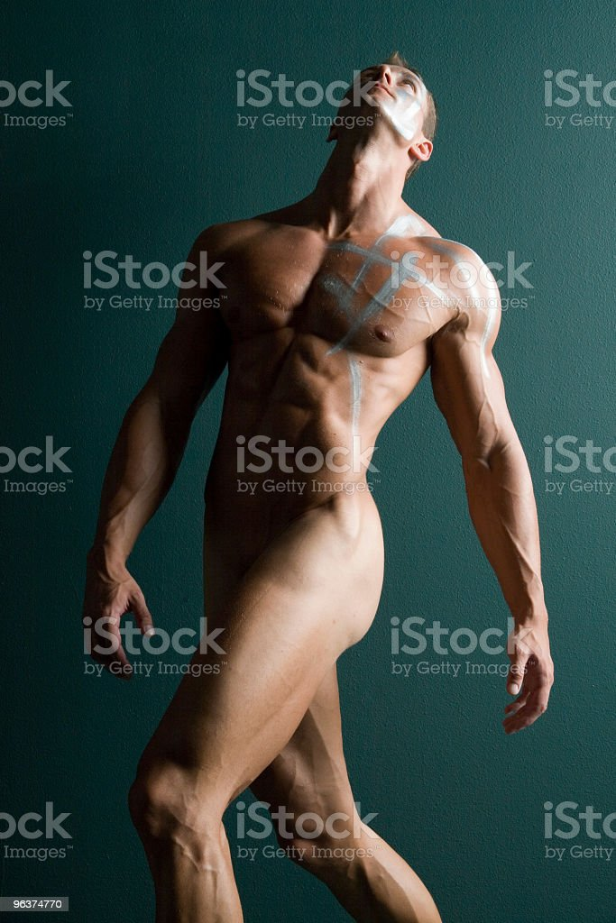 Muscular male body builder royalty-free stock photo