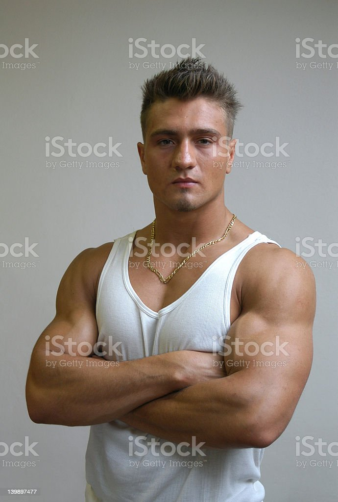 Muscular Male Model royalty-free stock photo
