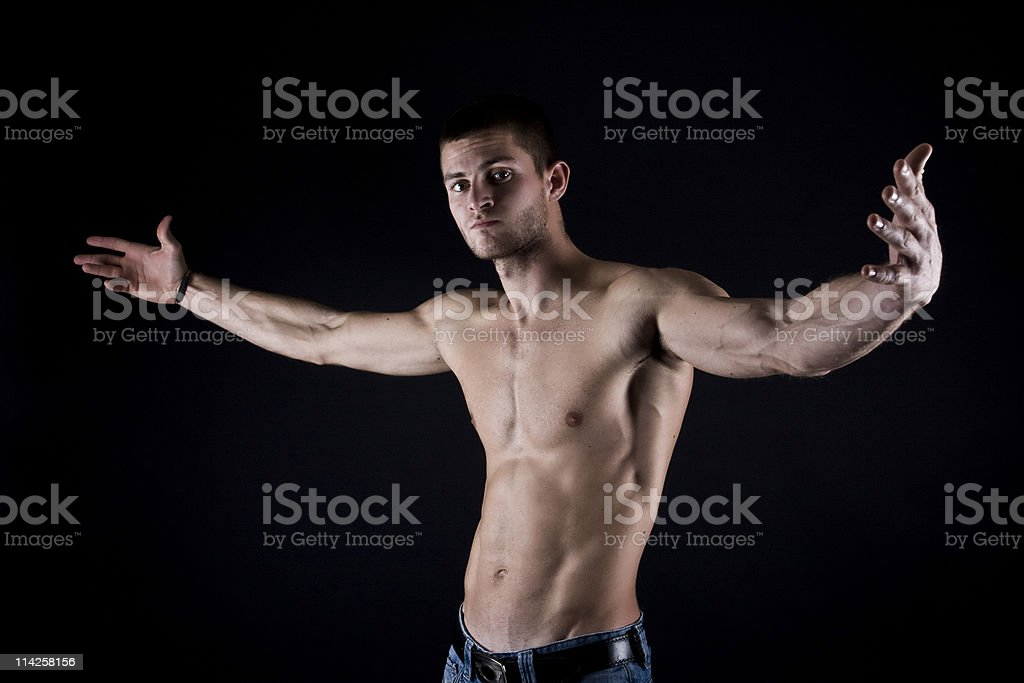 muscular male stock photo
