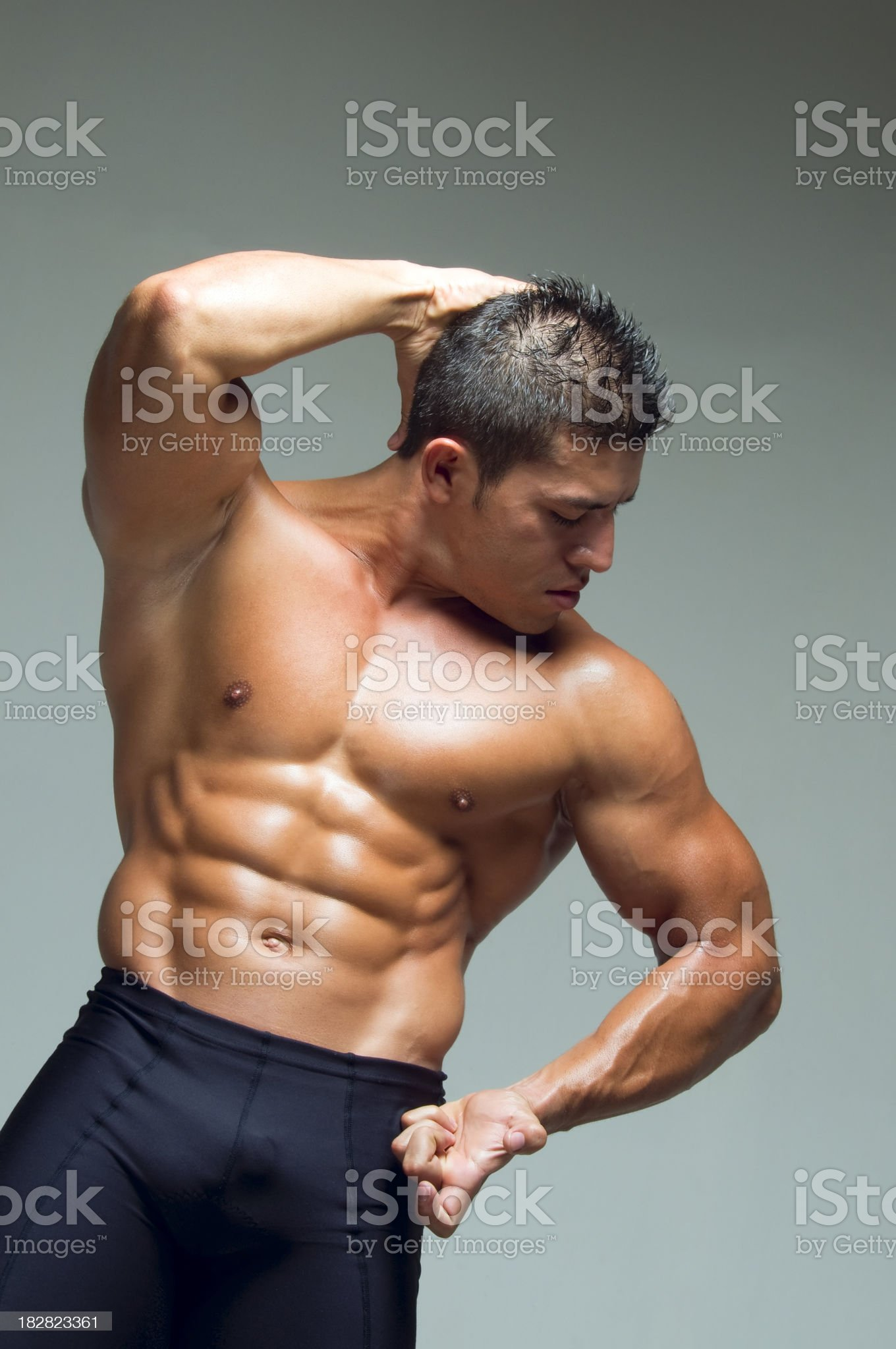 Muscular male royalty-free stock photo