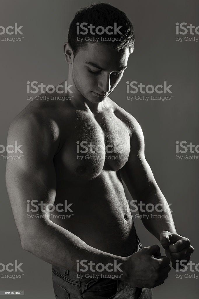 torso masculino Muscular foto de stock libre de derechos