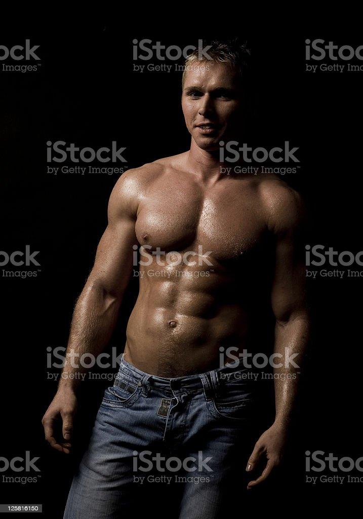 Muscular male torso XXL royalty-free stock photo