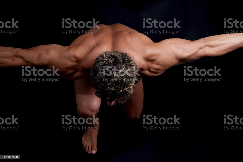 Muscular Man Body royalty-free stock photo