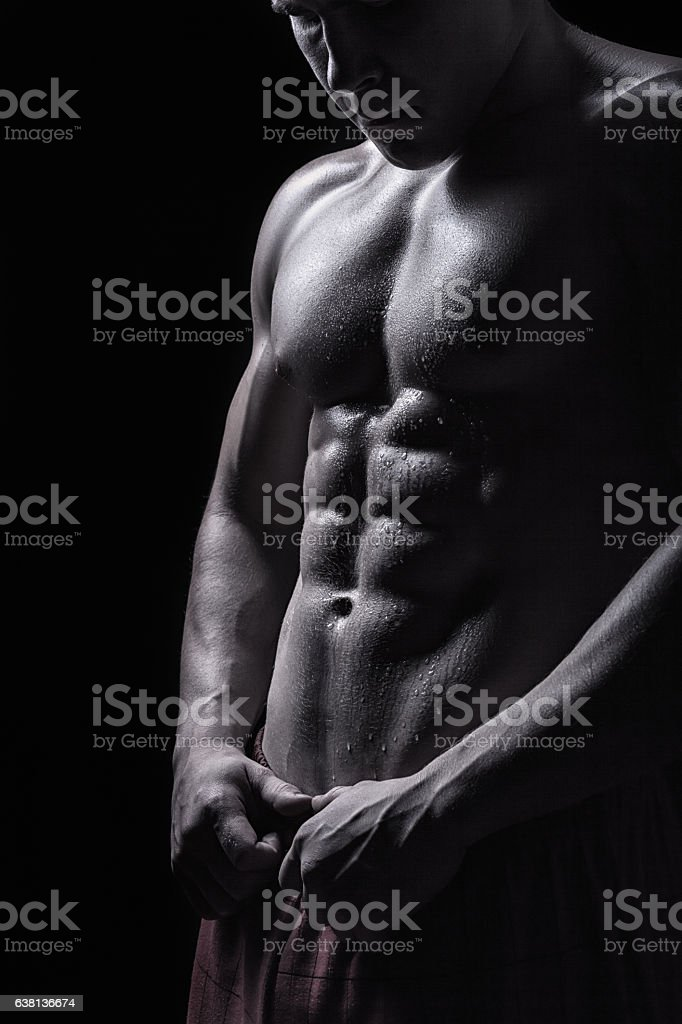 Muscular man stock photo