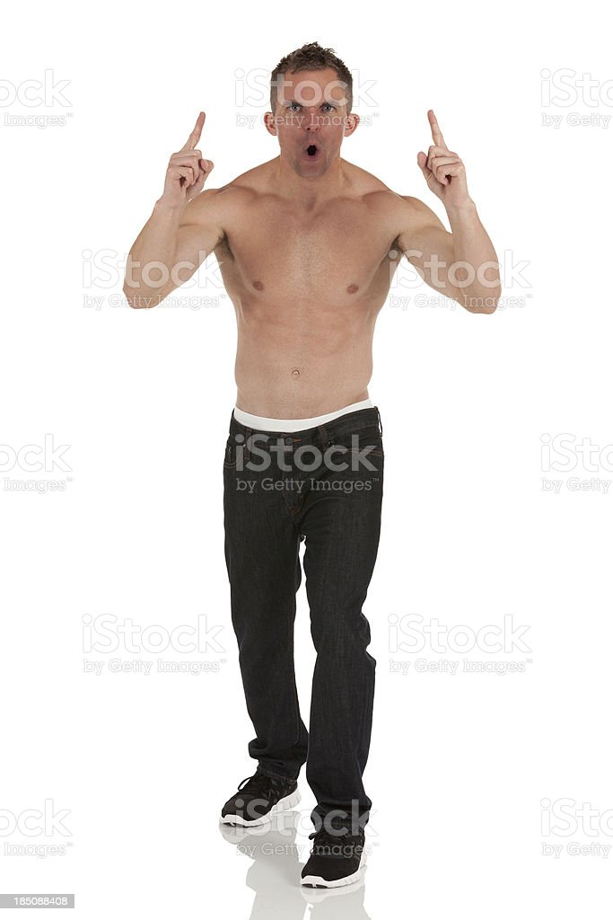 Muscular man posing royalty-free stock photo
