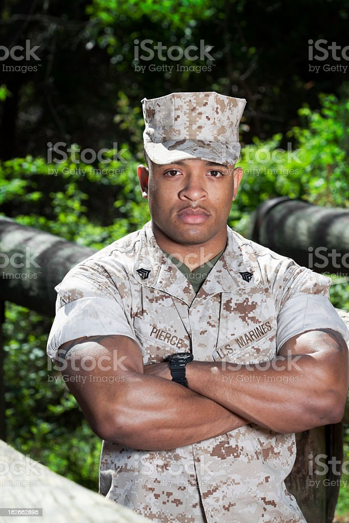 Muscular Marine royalty-free stock photo