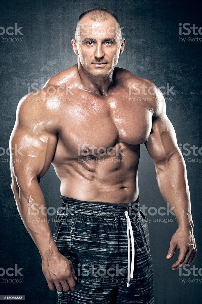 Muscular Men stock photo