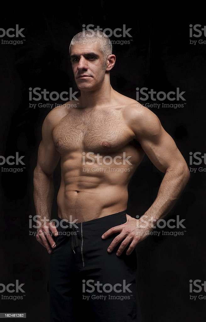 Muscular MMA - Mixed Martial Arts Fighter royalty-free stock photo
