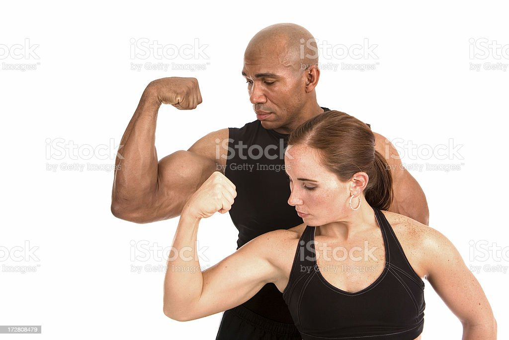Muscular royalty-free stock photo