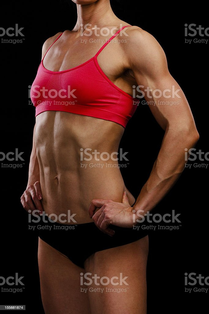 Muscular strong woman royalty-free stock photo