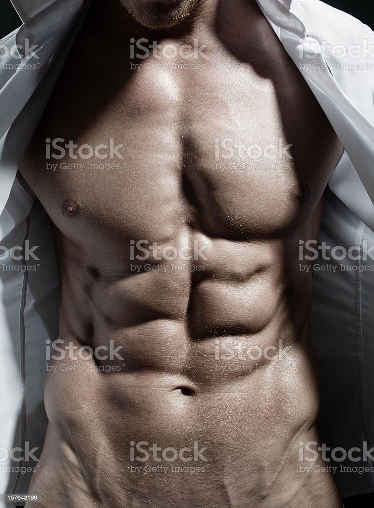 Muscular Torso stock photo